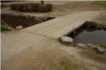 野鳥観察橋近くの小川の写真